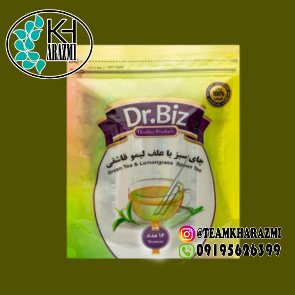 دمنوش قاشقی چایی سبز و علف لیمو قاشقی دکتر بیز